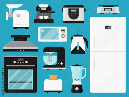 Fotografering Set of kitchen appliances