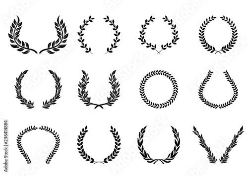 Photo  月桂樹のオーナメント(ブラック)ローレルリース|飾り囲み・LAUREL Wreath
