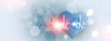 Abstract Medicine Heart Beat Banner