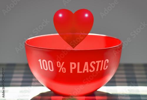 Vászonkép Red plastic heart