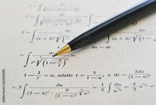 Pencil and math book
