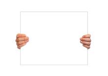 Hand Holding Blank Board