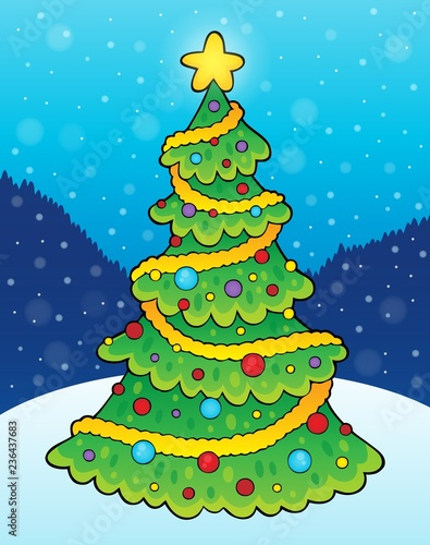 Christmas tree theme 8