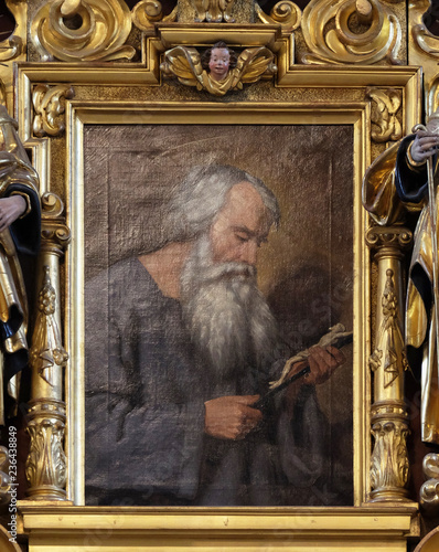Saint Beatus, altarpiece in the church of St Canvas Print