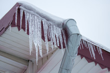 Icicle On The Roof Of The Pipe...