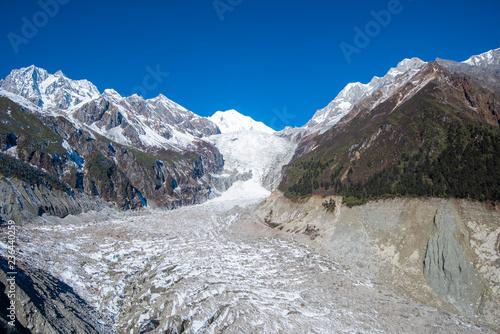 Zdjęcie XXL Hailuogou lodowiec, miasto Moxi, Luding County, Syczuan, Chiny
