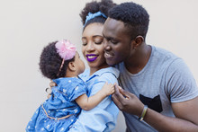 African American Family With A Small Daughter