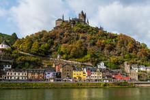 Germany, Rhineland-Palatinate, Cochem, Moselle River, Cochem Castle