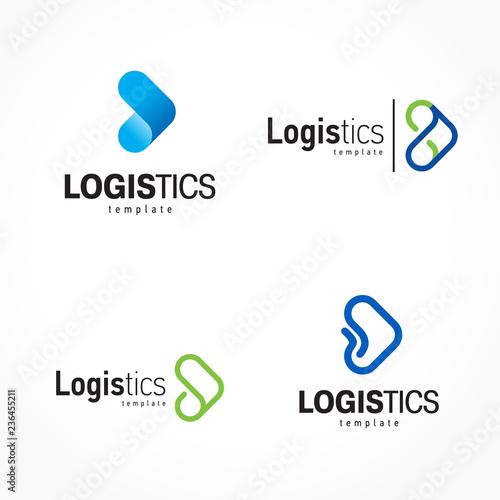 Obraz Logistics logo set arrows theme - fototapety do salonu