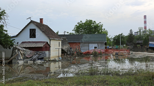 Fotografia, Obraz Flooded House Damage