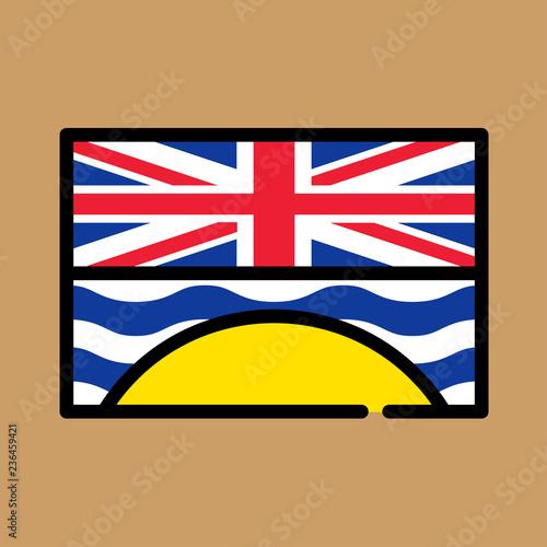 Fotografía  british-columbia icon. flat design