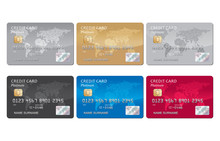 Credit Card Set Vector