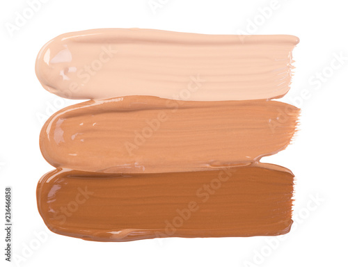 Makeup foundation smears isolated on white background Fototapet