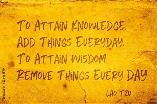Fotomural attain wisdom Lao Tzu