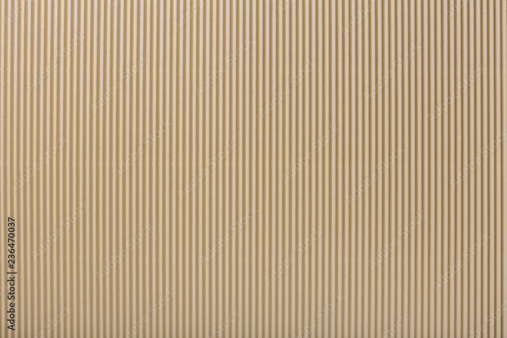 Fototapety, obrazy: Texture of corrugated light beige paper, macro.