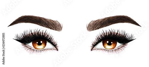 Fotografiet Woman eyes with long eyelashes