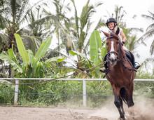 Little Girl On Her Horse