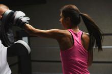 Female Model Training In The Ring