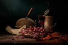 Vintage Still Life With Red Wi...