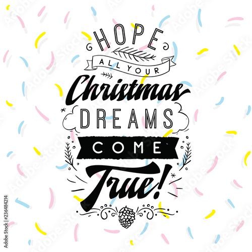 Printed kitchen splashbacks Merry Christmas typography.