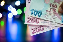 100 And 200 Turkish Banknotes