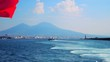 Ferry to Naples Italy, showing Mount Vesuvius
