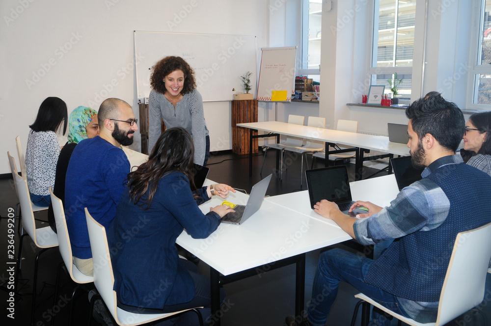 Fototapeta Beim Studieren