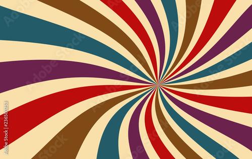Photographie  retro starburst or sunburst background vector pattern with a dark vintage color