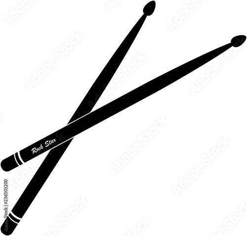 Drumsticks Vector Fototapet