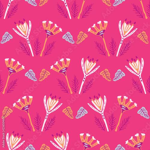 Fotografija  Boho Folk Flower All Over Print Vector