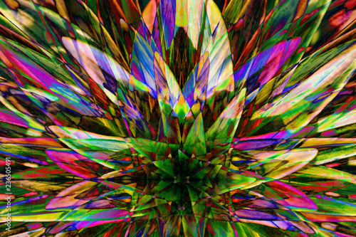 Photographie Hallucinogen fluorescent background from plants of surreal colors