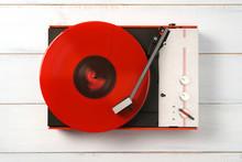 Retro Turntable Vinyl Record P...