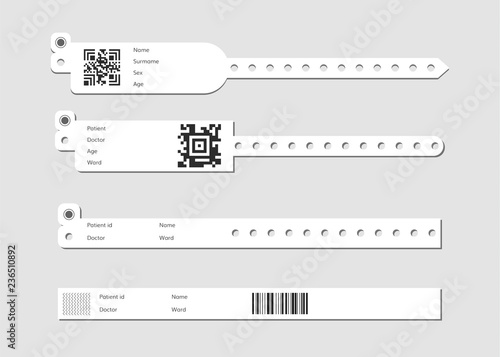 Canvas-taulu Wristband template set