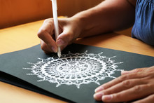 Beautiful Mandala Painted On A Paper