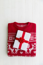 Christmas Sweater And Gift