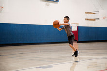 Basketball Passing Drills During A Practice Session