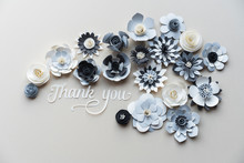 Gratitude Message With Cardboard Flowers