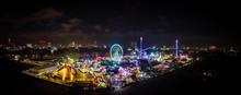 Aerial View Of Christmas Funfair In Hyde Park, London