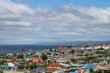 Colourful overview of town of Punta Arenas, Patagonia, Chile, South America