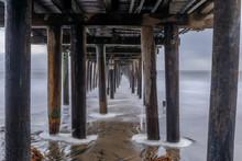 Under Capitola Wharf At Dusk. ...