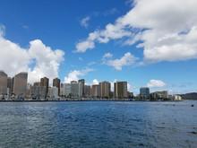 Skyline Of Waikiki And Diamond...