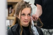 Teen Girl At The Hairdresser
