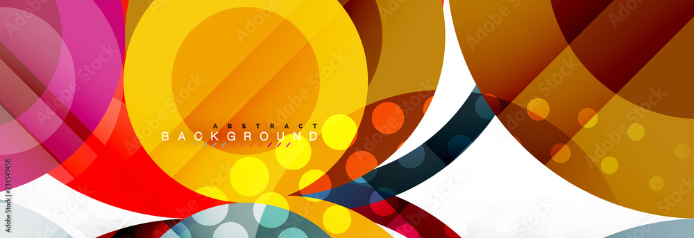 Circle composition abstract background