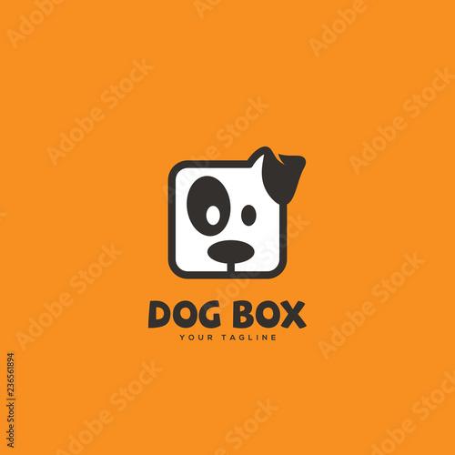 Dog box logo Wallpaper Mural