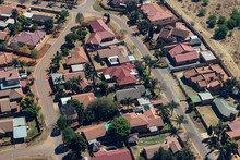 Aerial View Of City With Houses