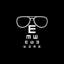 Eye Test Chart Icon Icon Or Lo...