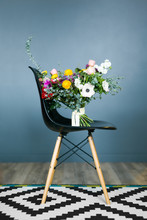 Beautiful Bouquet On A Chair