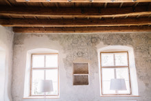 Old House Wall And Windows Made By Unknown Artist