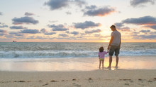 Father And Daughter On The Sea