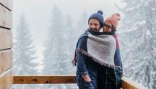 Couple Enjoying Winter Vacatio...